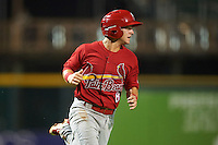 Palm Beach Cardinals second baseman Dylan Tice (8) running the bases during a game against the Bradenton Marauders on August 9, 2016 at McKechnie Field in Bradenton, Florida.  Bradenton defeated Palm Beach 8-7.  (Mike Janes/Four Seam Images)
