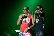"Largo, MD - July 12, 2014: Grammy award winning Hip Hop entertainer and actor Ludacris (left) performs at the 1st annual International Festival at the Largo Town Center in Largo, MD, July 12, 2014. He is also known for his roles in the ""Fast and Furious"" movies. (Photo by Don Baxter/Media Images International)"