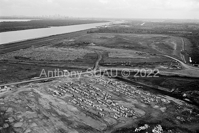 New Orleans, Louisiana.USA.July 31, 2006..Aerials of New Orleans nearly one year after hurricane Katrina hit and the levees broke. Nearly 80% of the city was flooded...The massive dump site for most of the debris left by hurricane Katrina, including the refrigerators.