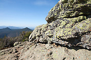 Appalachian Trail....Mount Flume (left) and Mount Liberty (right) from the summit of Little Haystack Mountain during the spring months. Located in the White Mountains, New Hampshire USA