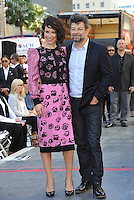 Evangeline Lilly &amp; Andy Serkis on Hollywood Blvd where director Peter Jackson was honored with the 2,538th star on the Hollywood Walk of Fame.<br /> December 8, 2014  Los Angeles, CA<br /> Picture: Paul Smith / Featureflash