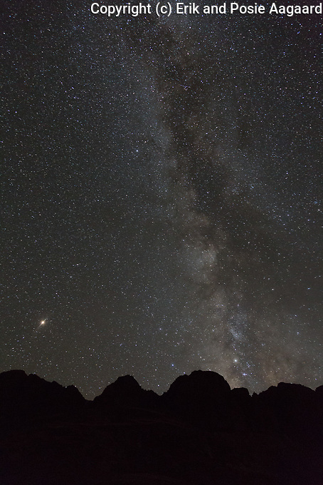 The Milky Way and Mars over American Basin