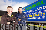 Cosyfill Insulation owner Aidan Woulfe with Kieran Collins.