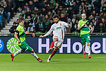 10.02.2019, Weserstadion, Bremen, GER, 1.FBL, Werder Bremen vs FC Augsburg<br /> <br /> DFL REGULATIONS PROHIBIT ANY USE OF PHOTOGRAPHS AS IMAGE SEQUENCES AND/OR QUASI-VIDEO.<br /> <br /> im Bild / picture shows<br /> Max Kruse (Werder Bremen #10), Jan Moravek (FC Augsburg #14), Davy Klaassen (Werder Bremen #30), <br /> <br /> Foto © nordphoto / Ewert