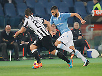 Antonio Candreva    in action during the Italian Serie A soccer match between   SS Lazio and FC Juventus   at Olimpico  stadium in Rome , November 22, 2014