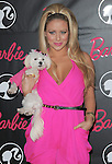 Aubry O'Day & her dog at Barbie's 50th Birthday Party at The Real Barbie Dreamhouse in Malibu, California on March 09,2009                                                                     Copyright 2009 RockinExposures