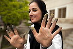 Artist Sheenkai Alam Stanikzai shows off her crayon stained hands. A finalist in the Kabul Contemporary Art Prize she was taking part in a workshop in the lead up to the final winner being aanounced. Her photography and enthusiasm eventually proved a decisive factor in her victory. Street life in the Afghan capital of Kabul is full of interesting faces whose experience is often etched deep into the eyes. The exception being the women , whose eyes a casual observer rarely sees. Despite the ongoing struggle between radical Islamists and the moderate sections of Afghan society - and of course the coalition forces- the hospitality and vibrance of the locals is exhuberant. It has been centuries of struggle for these people and nothing, it seems , can break their spirit.