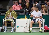 Rotterdam, The Netherlands. 16.02.2014. Michael Llodra(FRA)/Nicolas Mahut(FRA)(L)  ABN AMRO World tennis Tournament<br /> Photo:Tennisimages/Henk Koster