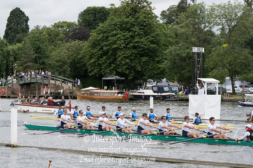 Henley on Thames. United Kingdom.  Heat of the Grand Challenge  Cup. Crefelder &Dorsten GER and Team Italia. ITA.  on    Friday,  01/07/2016,      at the 2016 Henley Royal Regatta, Henley Reach.   [Mandatory Credit Peter Spurrier/ Intersport Images]