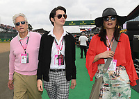 Michael Douglas, Dylan Douglas and Catherine Zeta-Jonesduring the Formula 1 Rolex British Grand Prix 2019 at Silverstone Circuit, Towcester, England on 14 July 2019. Photo by Vince  Mignott.