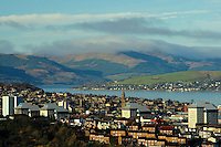 Greenock, the River Clyde and the Cowal Hills, Inverclyde<br /> <br /> Copyright www.scottishhorizons.co.uk/Keith Fergus 2011 All Rights Reserved