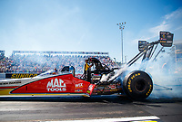 Sep 23, 2017; Mohnton, PA, USA; NHRA top fuel driver Doug Kalitta during qualifying for the Dodge Nationals at Maple Grove Raceway. Mandatory Credit: Mark J. Rebilas-USA TODAY Sports