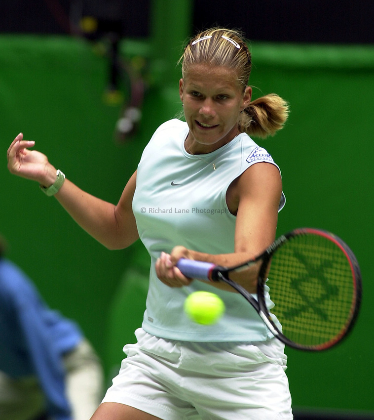 Australian Open Tennis 2003.13/01/2003.Melinda Czink of Hungray in first round match against  Chanda Rubin of the USA.