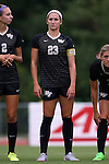 04 September 2015: Wake Forest's Kendall Fischlein. The Wake Forest University Demon Deacons played the William & Mary University Tribe at Dail Soccer Field in Raleigh, NC in a 2015 NCAA Division I Women's Soccer game. The game ended in a 1-1 tie.