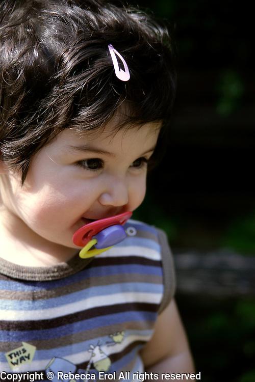 Eighteen-month-old British toddler, father Turkish, mother