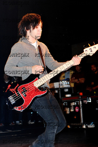 FALL OUT BOY - bassist Pete Wentz - performing live on the Decaydance Tour at the Apollo Hammersmith in London UK - 22 Aug 2007.  Photo credit: George Chin/IconicPix