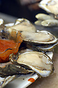 Oysters on the half shell are popular at Uglesich's in New Orleans, Wednesday, April, 13, 2005.<br /> (Cheryl Gerber Photo)