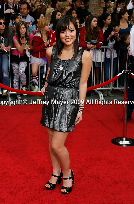 "HOLLYWOOD, CA. - April 02: Maya Kibble arrives at the premiere of Walt Disney Picture's ""Hannah Montana: The Movie"" held at the El Captian Theatre on April 2, 2009 in Hollywood, California."