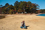 Camping at Windcreek State Park in Alexander City, Alabama.