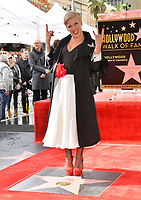 LOS ANGELES, CA. February 05, 2019: Pink at the Hollywood Walk of Fame Star Ceremony honoring singer Pink.<br /> Pictures: Paul Smith/Featureflash