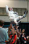 25 MAR 2016:  Ohio State's Eleanor Harvey gets a ride from her teammates after winning the Women's Foil Event at the Division I Women's Fencing Championship at the Gosman Sports and Convention Center in Waltham, MA.   Damian Strohmeyer/NCAA Photos