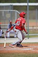 St. Louis Cardinals Dennis Ortega (40) during a Minor League Spring Training game against the Houston Astros on March 27, 2018 at the Roger Dean Stadium Complex in Jupiter, Florida.  (Mike Janes/Four Seam Images)