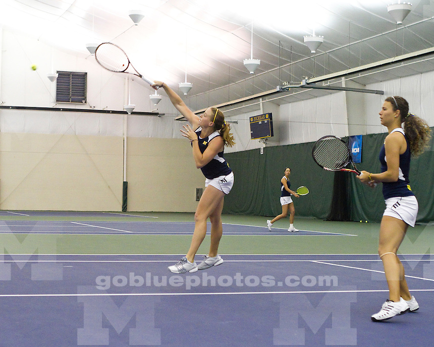 University of Michigan women's tennis 4-0 win over Akron on Day 1 of the NCAA Tournament in the Varsity Tennis Center in Ann Arbor, MI, on May 14, 2011.