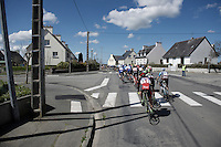 Peloton rolling through the villages of West Brittany<br /> <br /> 33th Tro Bro L&eacute;on 2016