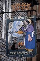 Europe/France/Bretagne/22/Côtes d'Armor/Dinan: Enseigne d'un restaurant place des Merciers