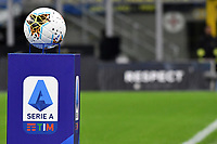 serie A Ball and logo <br /> Milano 6-10-2019 Stadio Giuseppe Meazza <br /> Football Serie A 2019/2020 <br /> FC Internazionale - Juventus FC <br /> Photo Andrea Staccioli / Insidefoto