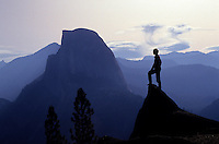 Half Dome seen from Glaciar Point in Yosemite National Park, California, USA