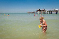 Gulf of Mexico at historic Naples Fishing Pier, Naples, Florida, USA. Photo by Debi PIttman Wilkey
