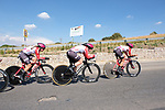 Lotto-Soudal Ladies team in action during Stage 1 of the Madrid Challenge by La Vuelta, a team time trial running 12.6km from Boadilla del Monte to Boadilla del Monte, Spain. 15th September 2018.                   <br /> Picture: Unipublic/Vicent Bosch | Cyclefile<br /> <br /> <br /> All photos usage must carry mandatory copyright credit (&copy; Cyclefile | Unipublic/Vicent Bosch)