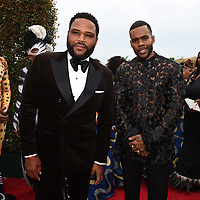 SANTA MONICA - JUNE 1: Anthony Anderson and Mario attend the 3rd Annual Wearable Art Gala at Barker Hangar on June 1, 2019 in Santa Monica, California. (Photo by Frank Micelotta/PictureGroup)
