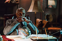 Proud Mary (2018) <br /> Benny (Danny Glover) is told some unexpected news<br /> *Filmstill - Editorial Use Only*<br /> CAP/KFS<br /> Image supplied by Capital Pictures