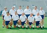 1990-2151.tif<br /> <br /> Standing Row: Chris Pella, Claude Bassett, Robbie Bosco, Lance Reynolds, Ken Schmidt, Chuck Stiggins<br /> Kneeling Row: Norm Chow, Roger French, LaVell Edwards, Dick Felt, Tom Ramage<br /> <br /> August 11, 1990<br /> <br /> Photo by: Mark Philbrick/BYU<br /> <br /> Copyright BYU PHOTO 2008<br /> All Rights Reserved<br /> 801-422-7322<br /> photo@byu.edu
