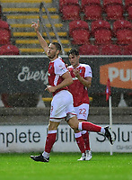 Rotherham United's Jamie Proctor celebrates scoring the opening goal <br /> <br /> Photographer Chris Vaughan/CameraSport<br /> <br /> The Carabao Cup First Round - Rotherham United v Lincoln City - Tuesday 8th August 2017 - New York Stadium - Rotherham<br />  <br /> World Copyright &copy; 2017 CameraSport. All rights reserved. 43 Linden Ave. Countesthorpe. Leicester. England. LE8 5PG - Tel: +44 (0) 116 277 4147 - admin@camerasport.com - www.camerasport.com