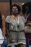 FLUSHING NY- SEPTEMBER 01: Adrienne C. Moore is seen watching Andy Murray Vs Marcel Granollers on Arthur Ashe Stadium at the USTA Billie Jean King National Tennis Center on September 1, 2016 in Flushing Queens. Credit: mpi04/MediaPunch