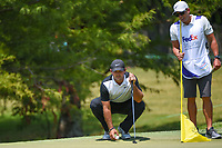 Patrick Reed (USA) lines up his putt on 9 during round 3 of the WGC FedEx St. Jude Invitational, TPC Southwind, Memphis, Tennessee, USA. 7/27/2019.<br /> Picture Ken Murray / Golffile.ie<br /> <br /> All photo usage must carry mandatory copyright credit (© Golffile | Ken Murray)