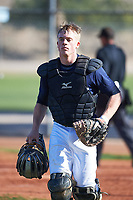 Cole Nisbit (52), from Fountain City, Wisconsin, while playing for the Padres during the Under Armour Baseball Factory Recruiting Classic at Red Mountain Baseball Complex on December 28, 2017 in Mesa, Arizona. (Zachary Lucy/Four Seam Images)