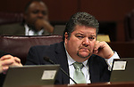 Nevada Assemblyman Richard Carrillo, D-Las Vegas, listens in committee at the Legislature in Carson City, Nev., on Thursday, March 17, 2011..Photo by Cathleen Allison