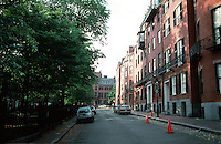 Boston:  Louisburg Square, East Side.  Various architects, 1834-1847.  Photo '88.