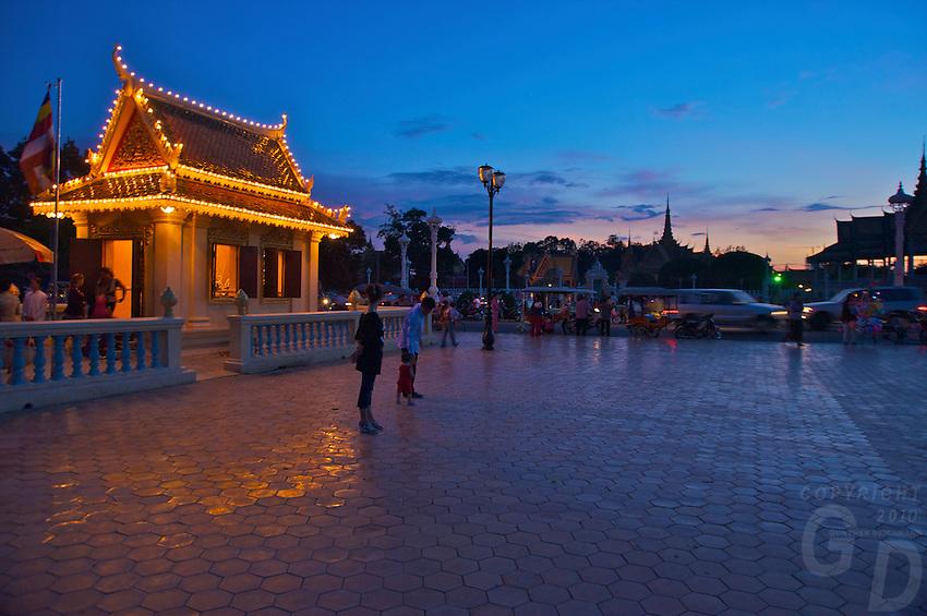 Sunset and Moonrise Phnom Penh Town Cambodia, Generic