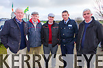 Pictured at Lixnaw Coursing Club 86th Annual Meeting at Granshagh, Ballinclogher on Sunday L-R Phil Murphy, Lixnaw, Tom Mulcahy, John Ronan, Charleville, Garda Sean Behan, Lixnaw and John Barrett, Glin.