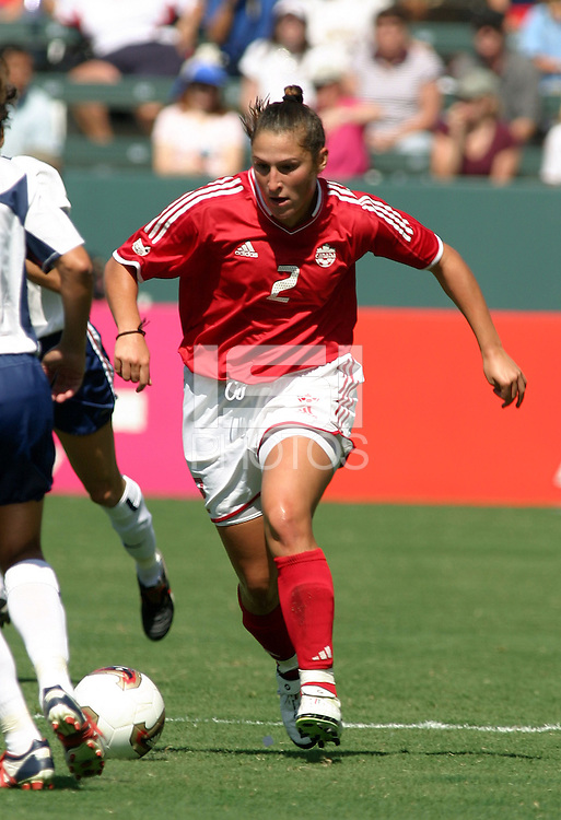 Christine Latham, USA vs. Canada at the Third Place Match of the FIFA Women's World Cup USA 2003. USA 3, Canada, 1. (October 11, 2003). .