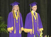 Salutatorians Kathleen Stevenson and John Loub are recognized.