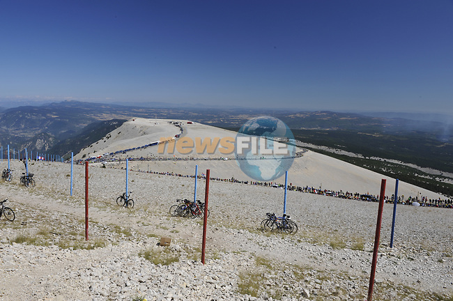 Huge crowds line the slopes of Mont Ventoux during Stage19 of the Tour de France 2009 running 167km from Montelimar to Mont Ventoux, France. 25th July 2009 (Photo by Eoin Clarke/NEWSFILE)