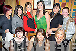 L'IL XMAS: Enjoying Women's Christmas in The Pota Sto?ir Restaurant in The Meadowlands Hotel on Sunday night were seated l-r: Brid Barrett, Laura and Marie Baker. Standing l-r: Emma O'Brien, Nicola O'Hara, Sarah Abdulsalam, Alicia Corridan, Amy Shanahan and Sarah Carey.   Copyright Kerry's Eye 2008
