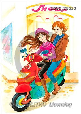 Alfredo, TEENAGERS, paintings(BRTO28030,#J#) Jugendliche, jóvenes, illustrations, pinturas ,everyday