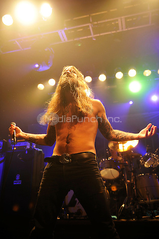 LONDON, ENGLAND - DECEMBER 5: Erlend Hjelvik of 'Kvelertak' performing at Electric Ballroom , Camden on December 5, 2016 in London, England.<br /> CAP/MAR<br /> ©MAR/Capital Pictures /MediaPunch ***NORTH AND SOUTH AMERICAS ONLY***
